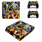 PS4 Slim Console Controllers Skin Decal Sticker Dragon Ball Z Son Goku Super DBZ