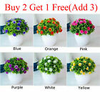 Outdoor Flower Fake False Plants Flowers Artificial Home Garden Decor With Pot