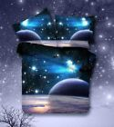 MZPRIDE 3D Mysterious Boundless Galaxy Sky Starry Night Bedding Sets Twin/Full Q