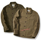 Vintage Heavy Weight Jacket Men's Cotton Shirts Long Sleeve Coat Thick Shirts