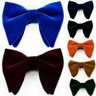 Men's Velvet Big Bow tie Prom Wedding Tuxedo Necktie Bow Tie Classic Adjustable
