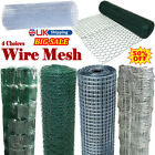 Galvanised Welded Wire Mesh Aviary Fence Panel PVC Coated Chicken Wire 10-50m💥