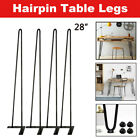 "NEW 8"" - 28"" Coffee Table Metal Hairpin Legs Solid Iron Bar Black Set of 4 BO"