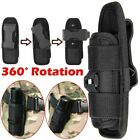 Tactical 360 Degrees Rotatable Flashlight Pouch Holster Case For Belt Portable