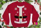 🔥 Santa Suit Ugly Christmas Sweater Naughty Humor fun party Crewneck Sweatshirt