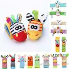 Infant Baby Wrist Rattles Foot Socks Rattle Cute Animal Soft Toys M5BD 01