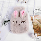 Bottle with Plush Fluffy Faux Fur Cover Hot Water Soft Cosy Adult Cute Kids Warm