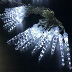 Plastic Ornaments Icicle Christmas Vintage 5M 28 Led Lights Home Wedding Decor