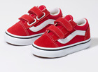 Vans Toddlers Old Skool V Suede Racing Red/ True White All Sizes 4-10 Free ship