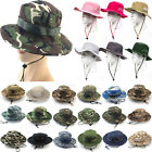 Mens Womens Bucket Boonie Hats Wide Brim Camo Combat Military Fishing Hiking Cap