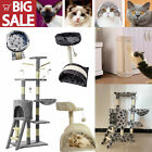 Large Deluxe Cat Tree Climbing Tower Scratching Post Kitten Activity Centre Bed