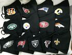 NFL Official On Field Face Mask~New Era~Black With Team Logo~Adjustable Closures