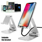 """Foldable Metal Desk Stand 4-13.3"""" Cell Phone Tablet Holder For iPhone 12 Pro Max"""