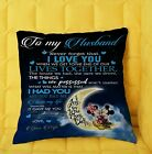 I Love You To The Moon An Back Mickey Minnie To My Husband Pillow cover