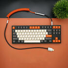 Carbon GMK Mechanical Keyboard USB Coiled Cable Type-C Detachable Custom Made