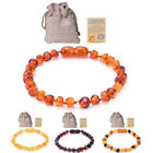 Natural Kid Baltic Amber Bracelet Anklet Raw Baby Teeth Wristband Jewelry Gifts