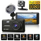 Dual Lens HD 1080P Car Dash Cam Dashboard DVR Video Recorder & Rearview Camera
