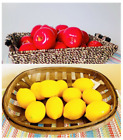 "3/6/12 Artificial Apples And Lemons 3"" Faux Plastic Delicious Fruits"