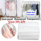 Suit Coat Protector Floor-standing Garment Rail Cover Drying Rack Covers