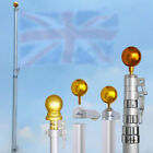 6.5ft/20ft/25ft Aluminum Telescoping Flag pole Kit Wall Mounted with Gold Ball