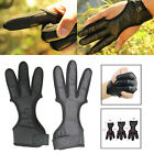3 Finger Archery Protector Tab Guard Glove Gear Leather Traditional Bow Hunting