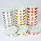 1 Roll 0.2-1mm Copper Wire Bracelet Necklace Jewelry Making Beading Cord DIY