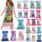 Girls Cute Cartoon Character Princess Nightie Nightdress Pyjamas Pjs Sleepwear