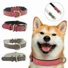 Adjustable Leather Dog Training Collar Metal Buckle Soft Padded Pet Puppy Useful