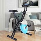 Folding 10 Levels Magnetic Resistance Upright Exercise Bike Fitness ev59