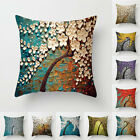 "Simple Painting Oil Painting Home Sofa Cushion Cover 18"" Pillow Case Decor Uk"