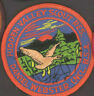 """LOT OF 3 BOYSCOUTS CAMPING CAMPOREE PATCHES 3"""" DIAMETER 80s DANIEL WEBSTER VTG."""