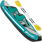 Sevylor Inflatable Madison Kit Kayak 2 Seater Canoe Recreational Kayak Tour Set