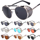 Retro Vintage Steampunk Sunglasses Style Inspired Round Metal Circle Side Shield