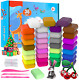 36 Colors Air Dry Clay, Magic Clay Artist Studio Toy, No-Toxic Modeling Clay D