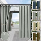 Waterproof Curtains Outdoor Pergola Patio Stain Proof Thermal Insulated Drapes