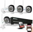1080P Wireless WIFI Outdoor Camera Security System Night Vision NVR IP CCTV