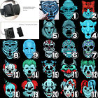 Sound Reactive LED Light Up Activated Halloween Mask Street Dancer Fancy Cosplay