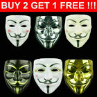 Anonymous Hacker V-Vendetta Game Kids Face Mask Adults Party Cosplay Master Gift