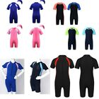Unisex Kids One-Piece Swimwear Wetsuit Rash Guard Swimsuit Athletic Beachwear