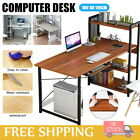 Foldable Computer Desk Office Study Workstation With Keyboard Drawer For Home UK