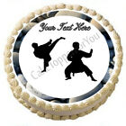 Karate Boy - Edible Cake Topper OR Cupcake Topper, Decor