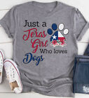 Just a Texas girl who loves Dogs v2, T-Shirt