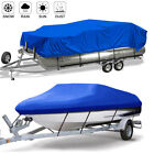 Heavy Duty Waterproof Trailerable Boat Cover Full Size Fit V-Hull Fish Pontoon
