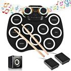Portable Electronic Roll up Digital USB Drum Pads Silicone Pad Kit 9Key Drum Set