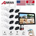 Home Security Camera System Outdoor Audio WiFi Wireless 8CH 12  1/2TB Hard Drive