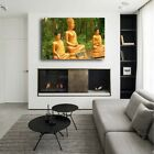 Golden Buddha Wall Art Canvas Poster and Print Wall Picture Living Room