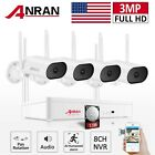 ANRAN Home Security Camera System Wireless Audio 1TB 3MP Outdoor Pan Rotation HD