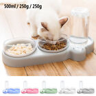 15  Cat Raised Bowl Double Dishes Pet Food Feeder and Automatic Water Dispenser