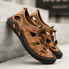 Mens Closed toe Hollow out Lace up Mesh Summer Beach Sports Sandals Casual Shoes