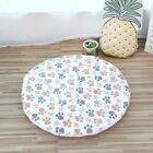 Warm Soft Pet Dog Mat Coral Fleece Mats Washable Round Pet Blanket Double-sided